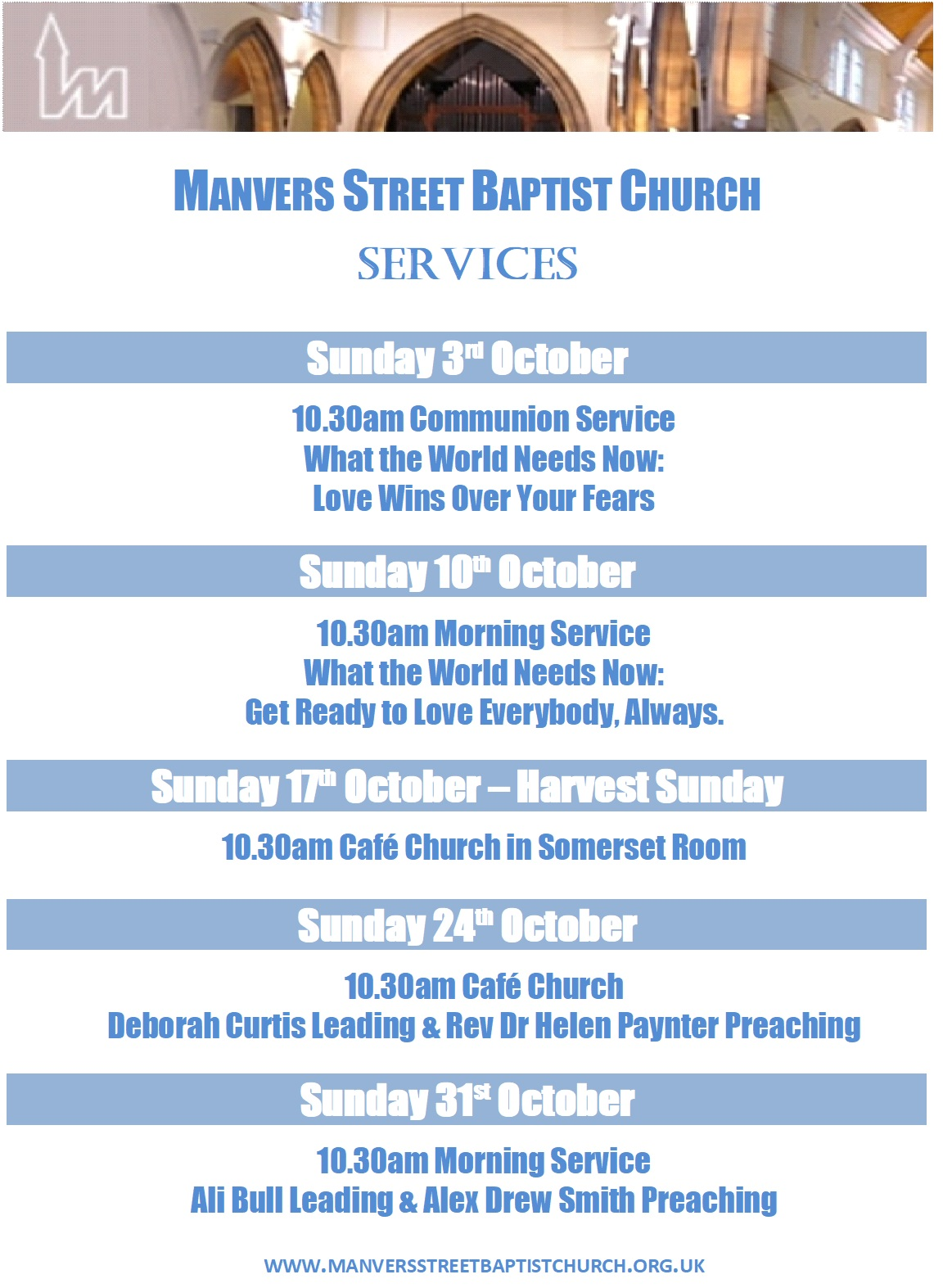 October Services